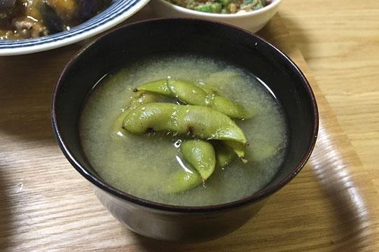 枝豆(茶豆)のお味噌汁