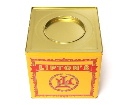 LIPTON ティーバッグ ギフト缶 内蓋