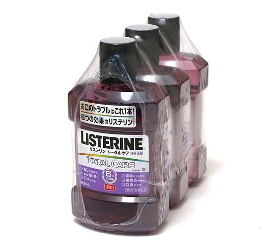 薬用リステリン トータルケア(液体歯磨)1,000mlx3本