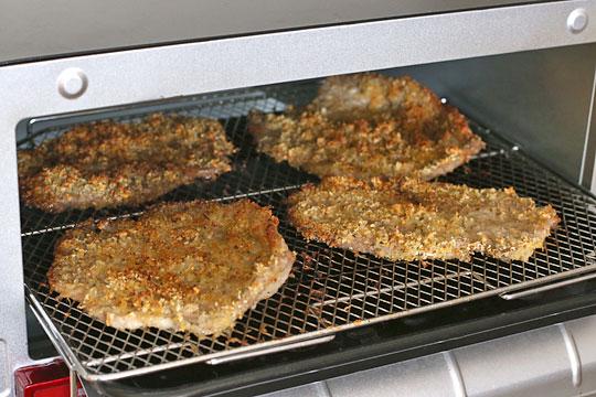 ミラノ風ポークカツレツ コンベクションオーブンで調理