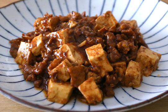 スパイシープルコギポークで麻婆豆腐