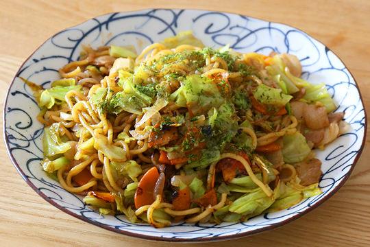 青木食品 太麺焼きそば 調理例