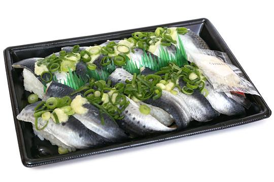 いわし酢〆寿司12貫 開封