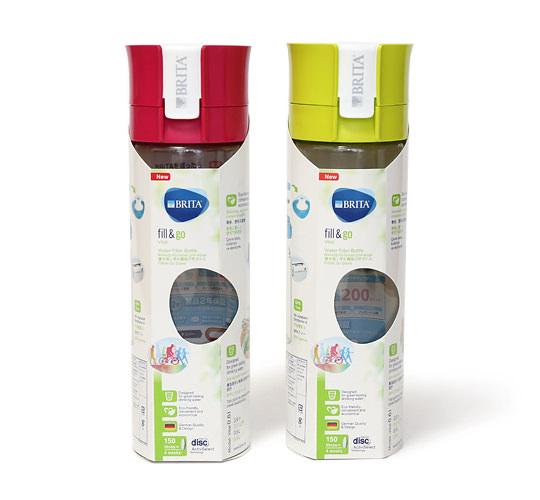 BRITA(ブリタ) fill&go 浄水機能付きボトル 2本 内箱