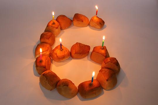 コストコ通ブログ6周年!ろうそくでお祝い