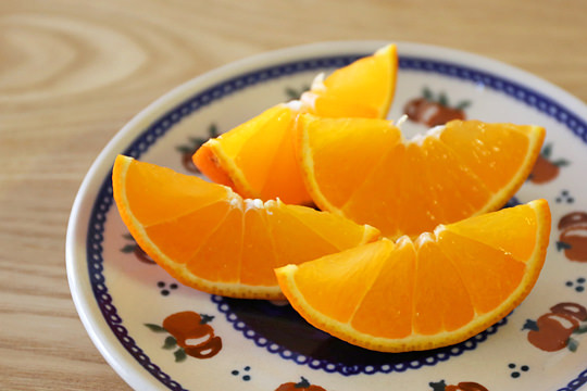サンキスト ミネオラオレンジ カットして盛り付け