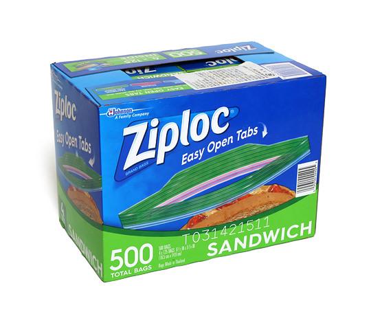 ジップロック サンドイッチバッグ 外箱