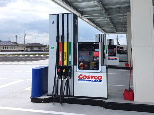 コストコ北九州ガスステーション(ガソリンスタンド) 計量器