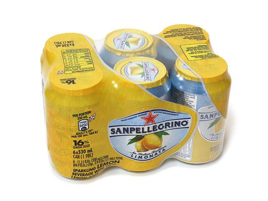 サンペレグリノ スパークリングフルーツベバレッジ レモン 6缶パック