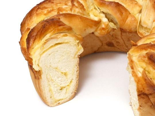相馬パン スペシャルココナッツクリームパン カット断面