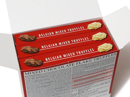 ビヨンドタイム ベルギー産ミックスチョコレートトリュフ 開封(3ケース入っている)