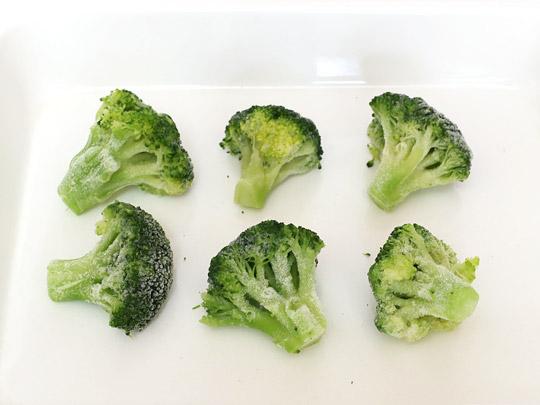 冷凍ブロッコリー ブロッコリーフローレット 開封中身(バラ凍結)