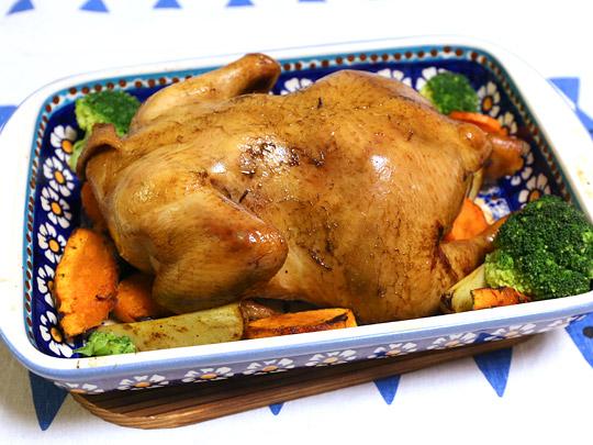 ホワイトスモーク 無添加スモークチキン丸鶏 調理例