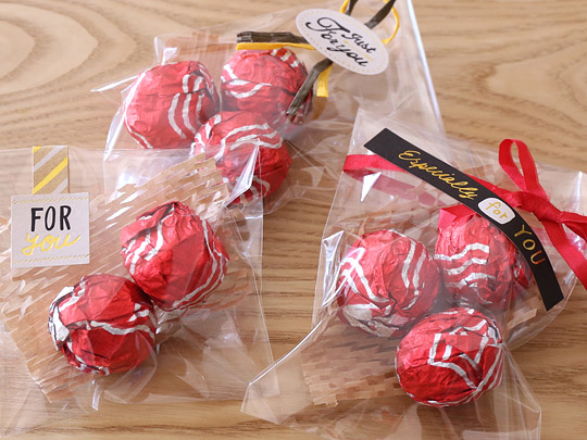 カークランドシグネチャー ヨーロピアンヘーゼルナッツチョコレート バレンタイン用にラッピング