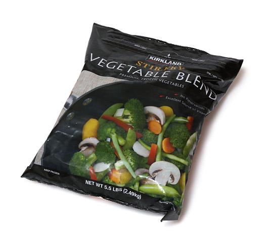 カークランドシグネチャー ステアフライベジタブルブレンド(冷凍野菜)