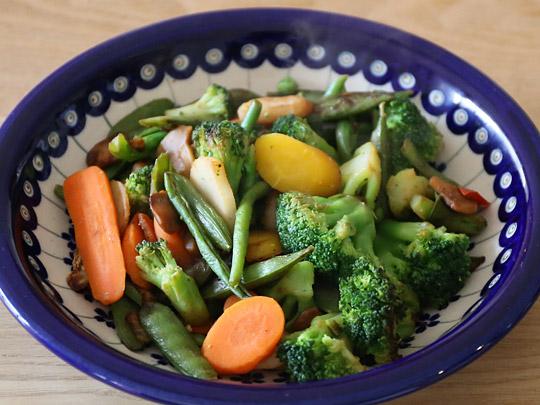 カークランドシグネチャー ステアフライベジタブルブレンド(冷凍野菜) 調理例(炒めた)