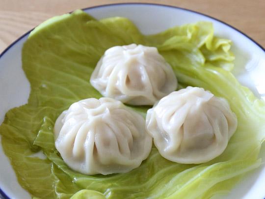 中華・高橋の冷凍生小籠包 調理例