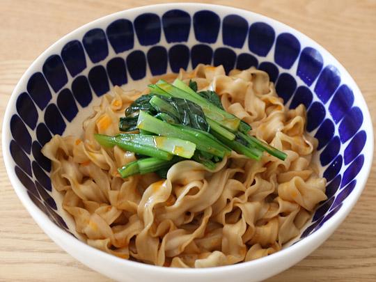 台湾のコストコで大人気のインスタント麺 曽拌麺(ツェンバンメン) 調理例1(シンプル)