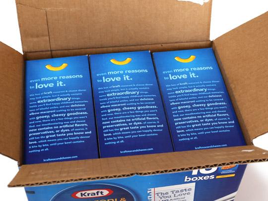 Kraft(クラフト) マカロニ&チーズ 18個入 箱開封