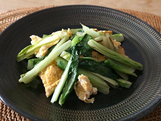 熊本県産 ロメインレタス 調理例(卵炒め)
