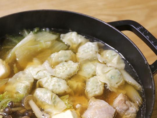bibigo 水餃子 肉&野菜 鍋に入れた