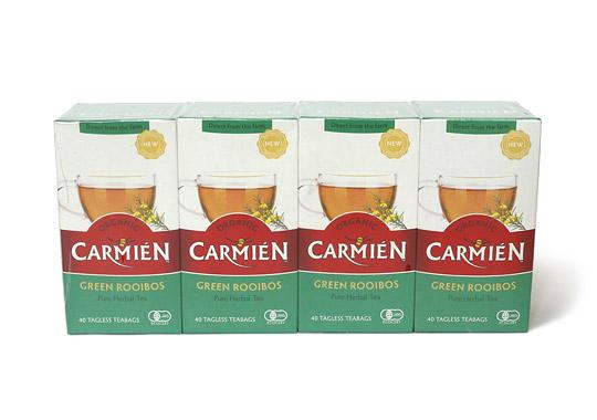 CARMIEN オーガニック グリーンルイボスティー 40袋☓4箱