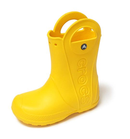 クロックス キッズ用 ハンドルイットレインブーツ(子供用長靴) 片足(アップ)