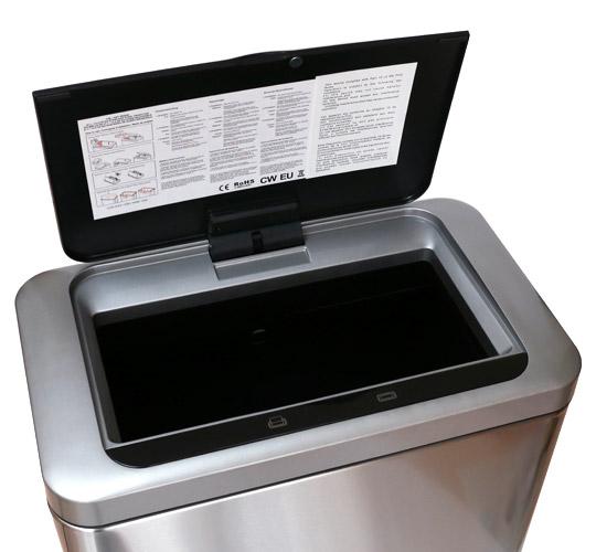 EKO センサー付きゴミ箱 47L 蓋(開けた状態)