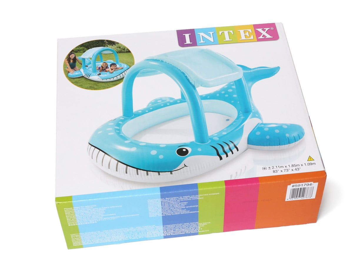 INTEX ホエールシェードプール(クジラのプール) 外箱