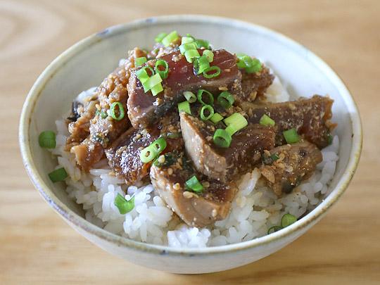 静岡県産 かつおたたき生食用 漬け丼