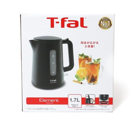 T-fal ティファール 電気ケトル 1.7L エレメントブラック 外箱