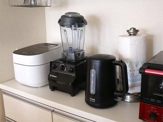 T-fal ティファール 電気ケトル 1.7L エレメントブラック キッチンに設置した