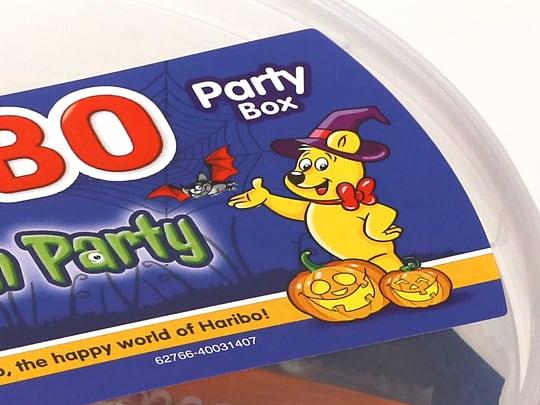 ハリボー ハロウィンパーティードラム 980g 黄色いクマさん