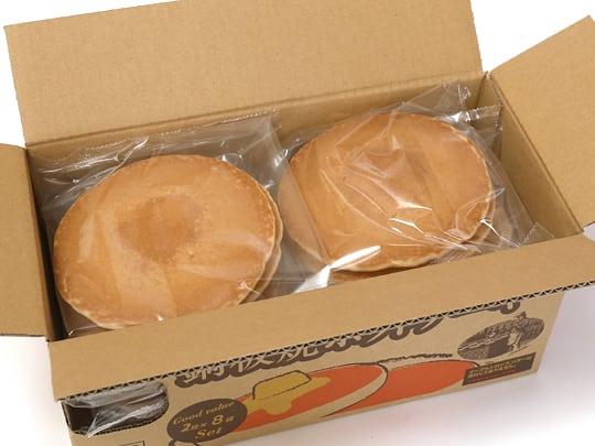 マリンフード 銅板焼ホットケーキ 2枚×8袋 箱開封