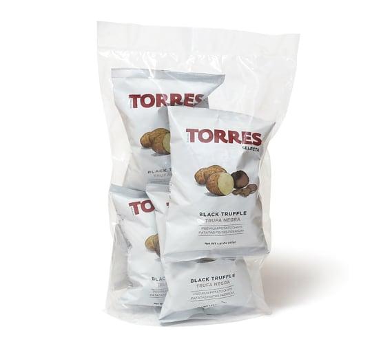 トーレス ポテトチップス 黒トリュフ味 40g×4
