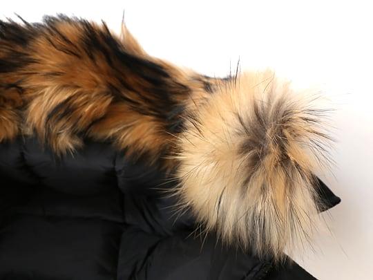 ピレネックス ダウンジャケット ファーの毛(フィンラクーン)