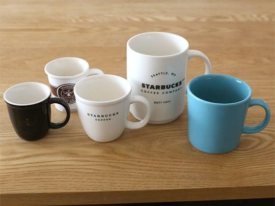 スターバックスコーヒー スタッキングマグ 他のカップ類との比較