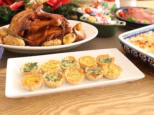 コストコ商品でクリスマスパーティー キッシュ
