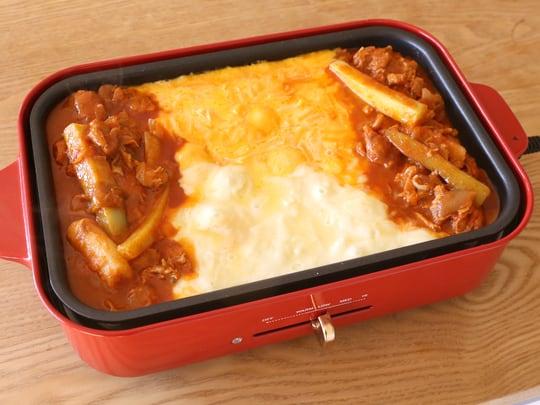 市場チーズタッカルビ 家庭用キット 調理例