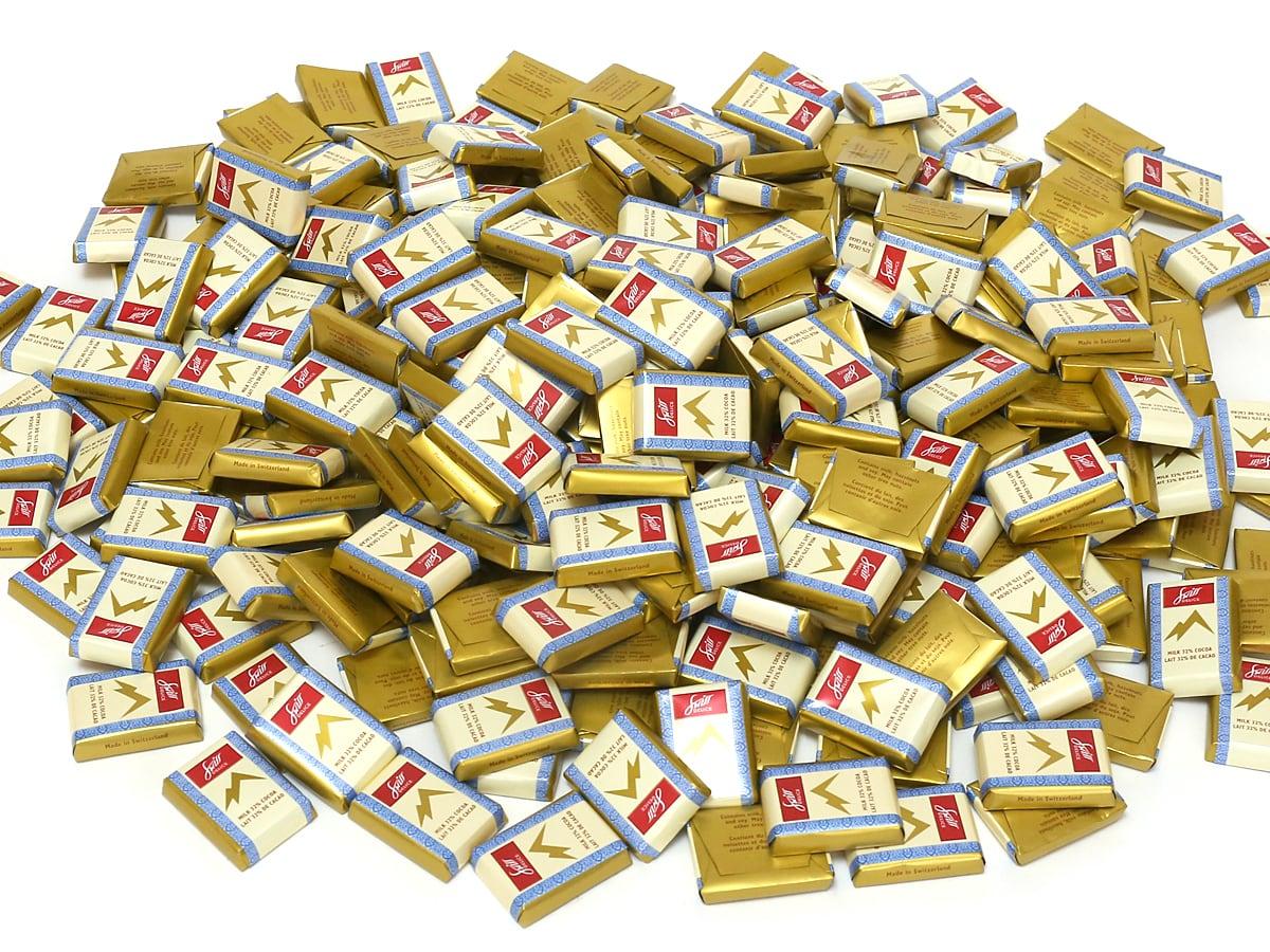 スイスデリス ミルクチョコレート 袋から全部出した