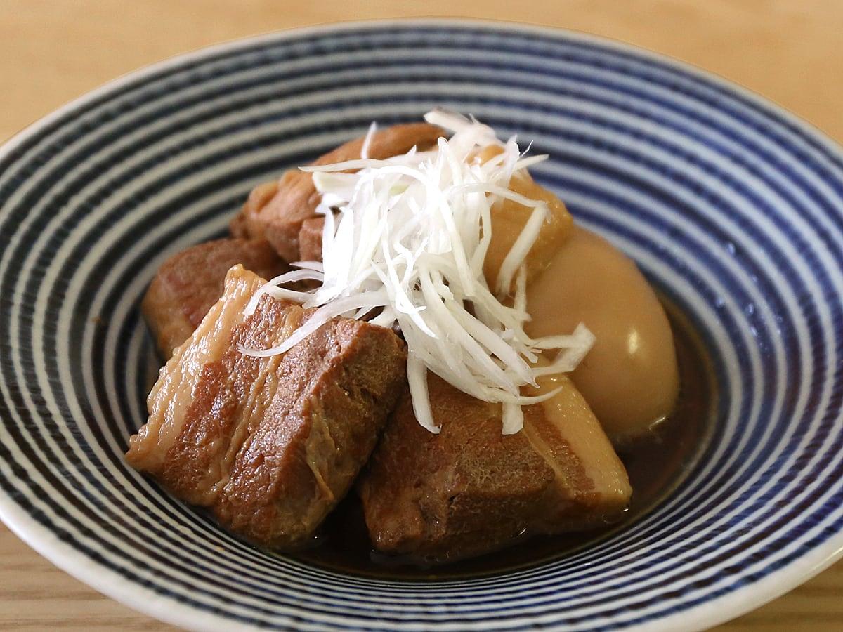 カナダ産豚肉 三元豚バラ真空パックで作った角煮