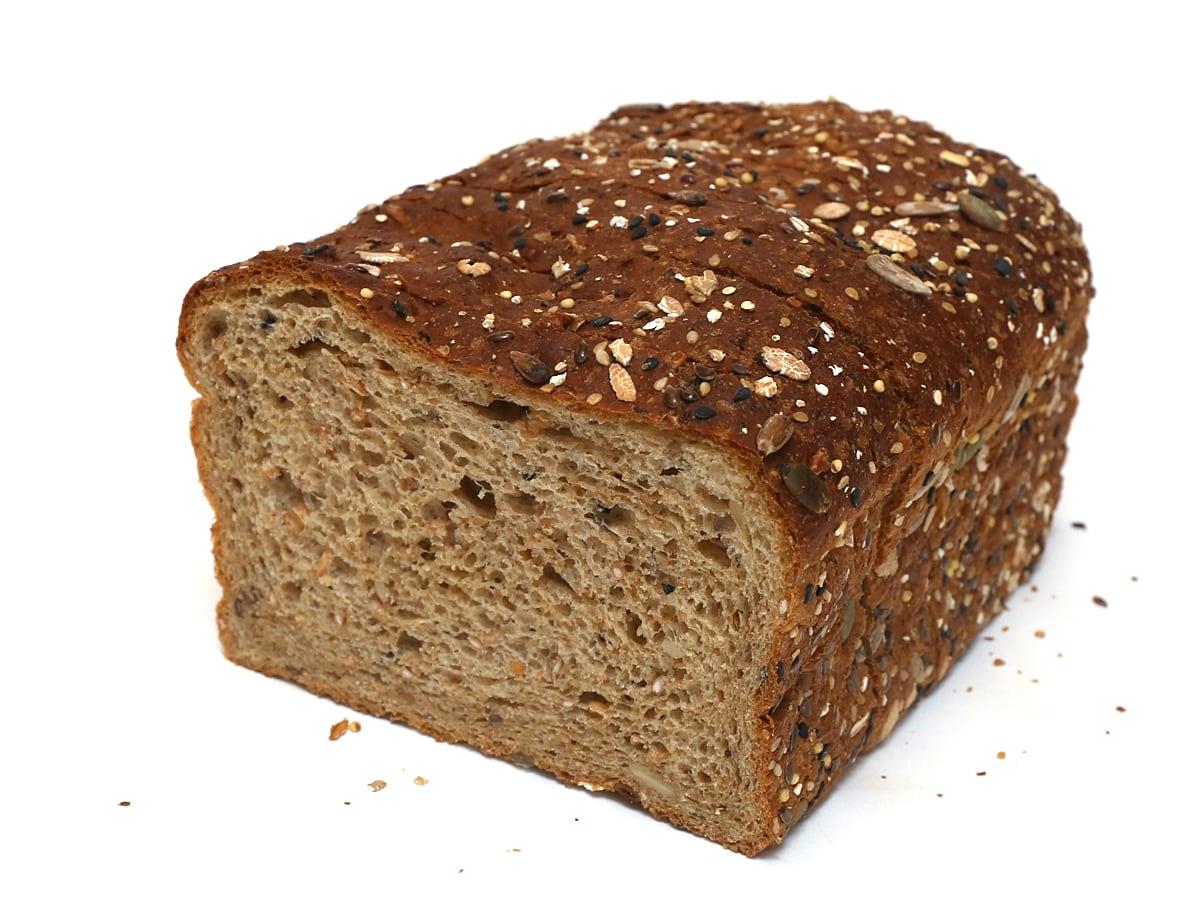 カークランドシグネチャー 21穀オーガニック食パン 断面