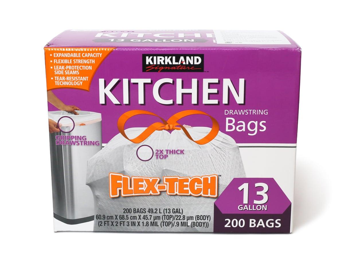 カークランドシグネチャー キッチンバッグ ひも付きゴミ袋