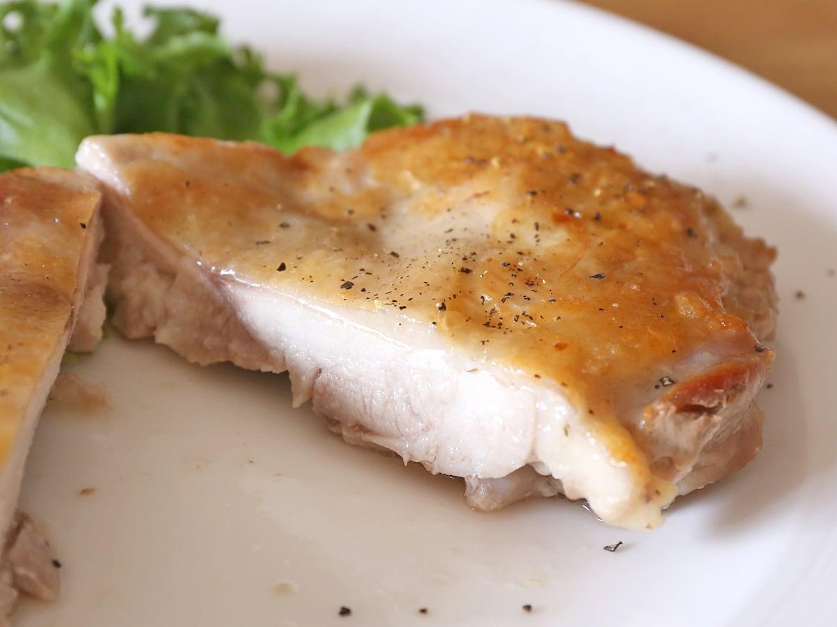 コストコのさくらどり(鶏肉)の美味しい焼き方 チキンソテーのカット断面