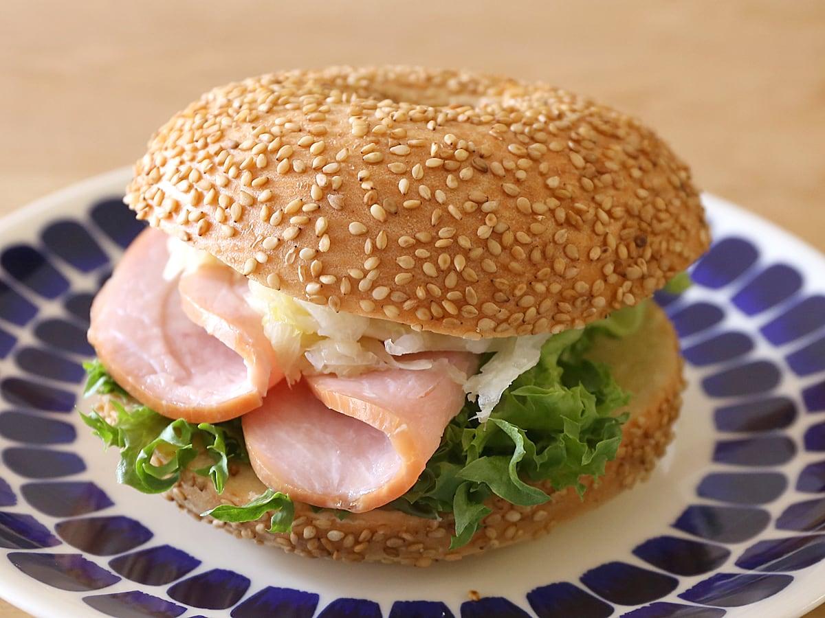 セサミベーグル サンドイッチ