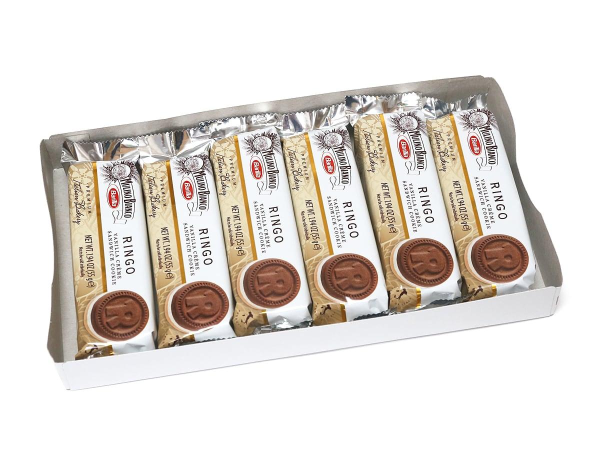 バリラ ムリーノビアンコ リンゴ バニラクリームサンドイッチクッキー 開封(個包装)