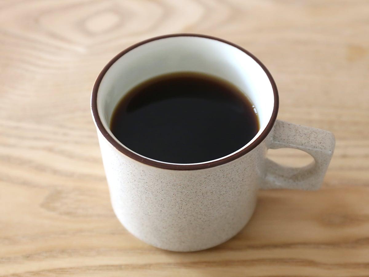 カークランドシグネチャー オーガニックニカラグアコーヒー 出来上がった珈琲