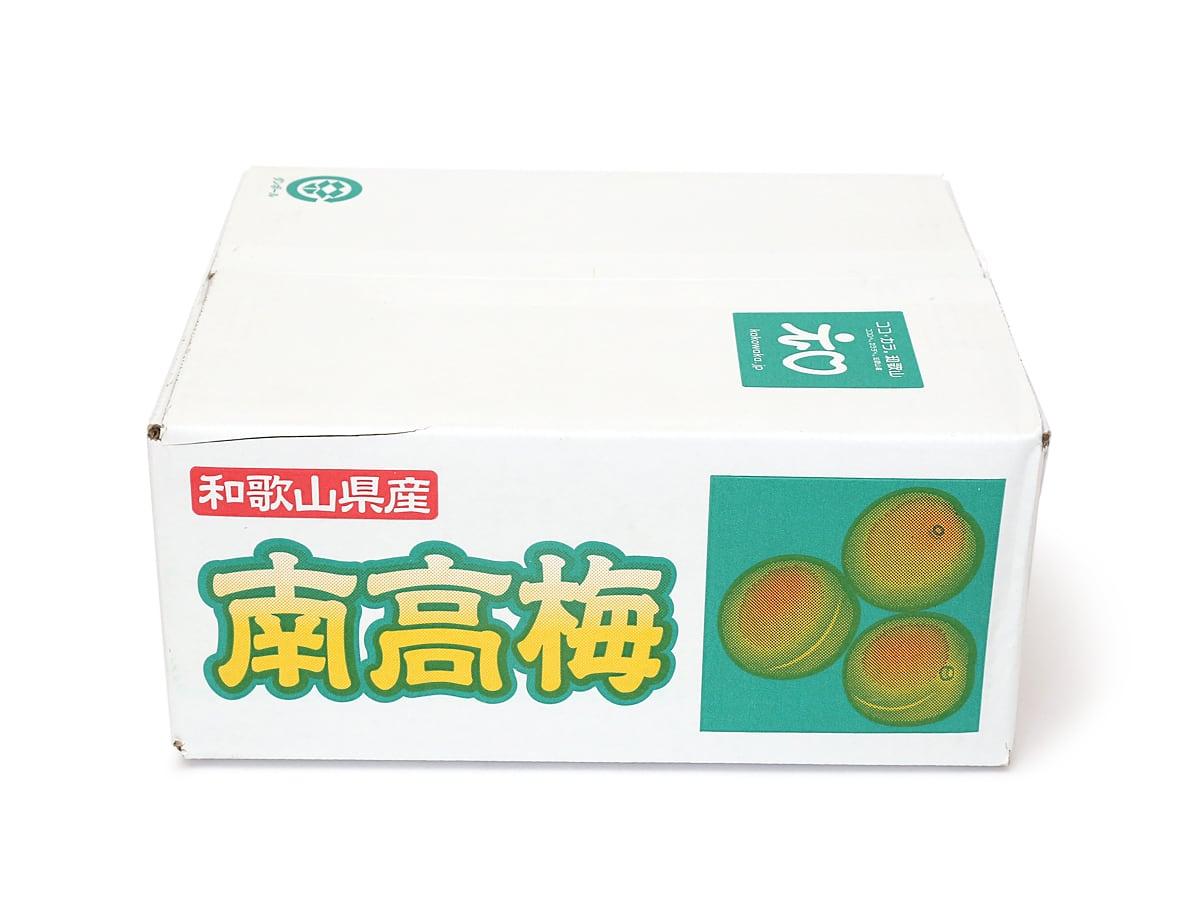 和歌山県産 南高梅 3kg 外箱