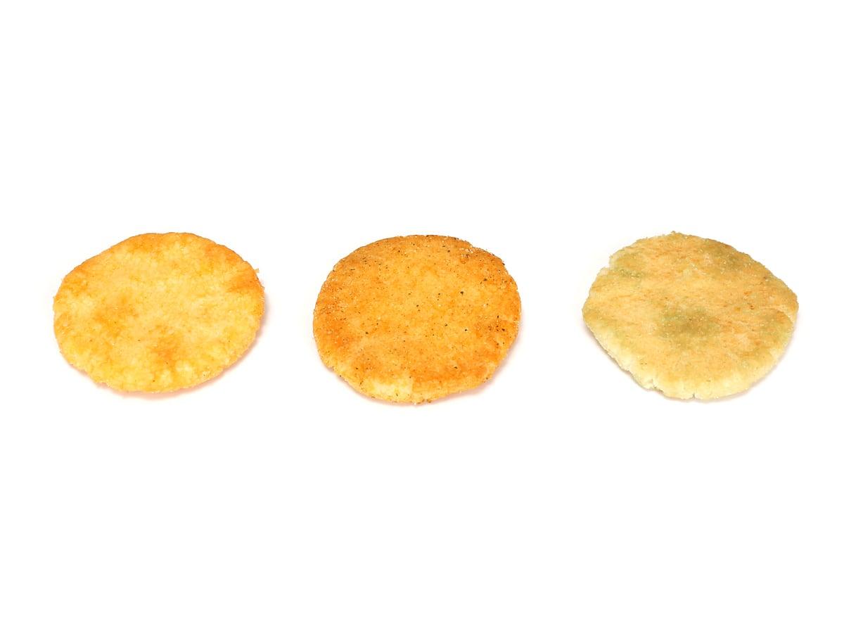 金吾堂製菓 トイストーリーおせんべいアソート 3種中身(コンソメ味・ピザ味・メロンソーダ味)