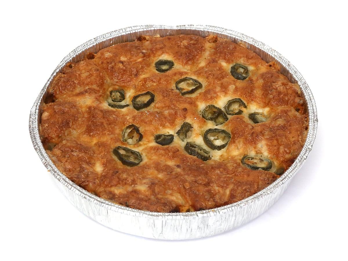 ハラペーニョチーズブレッド 取り出した(アルミ型に入ったパン)